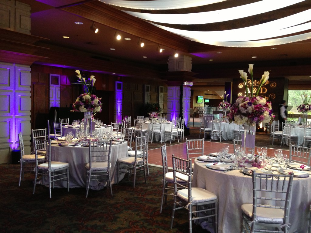 Dove Canyon Golf Club Reception with Uplights & Monogram Wedding DJ