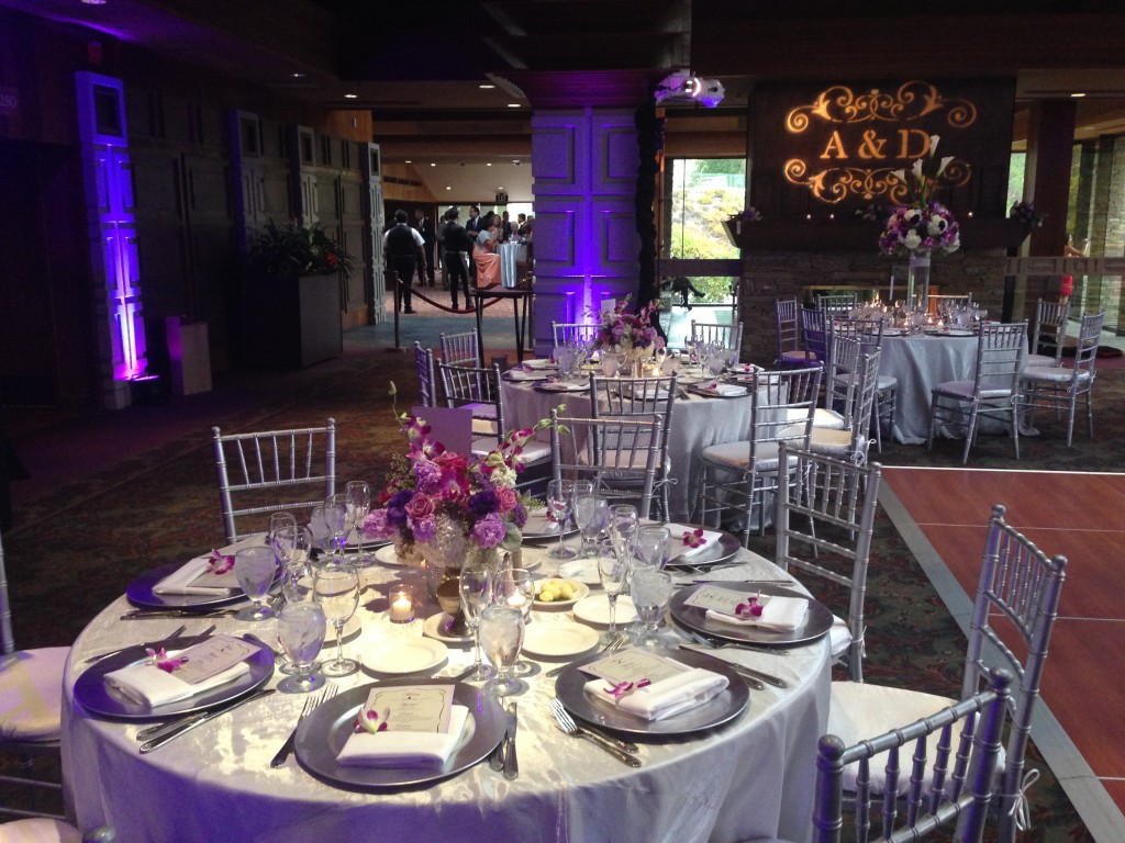 Dove Canyon Golf Club Reception with Uplights & Monogram