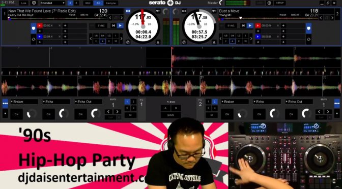 '90s Hip-Hop Party Live DJ Mix Video
